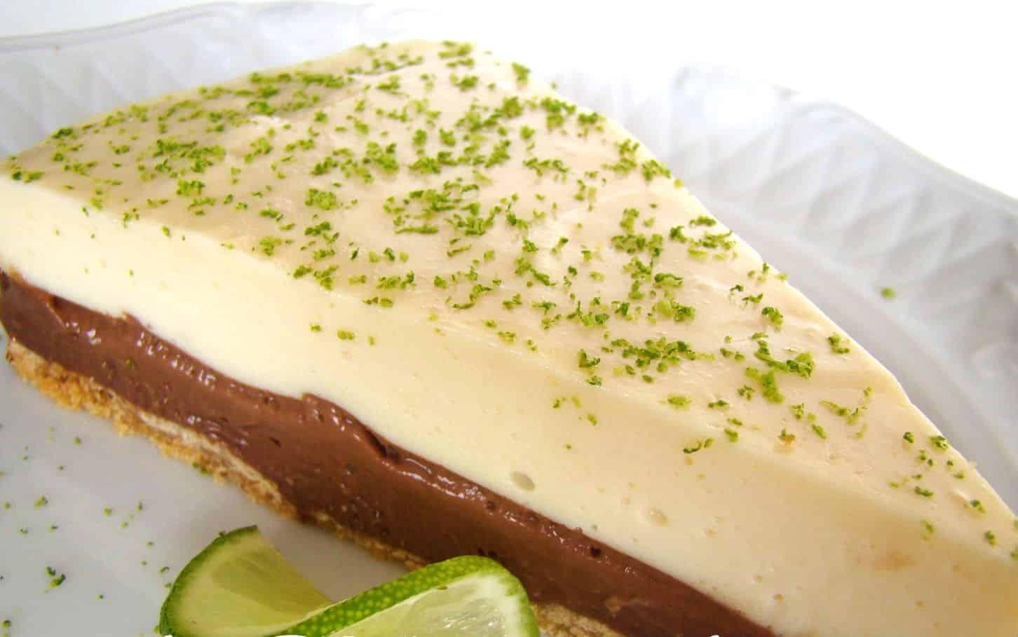 Torta de Limão com Chocolate Sem Glúten Sem Lactose