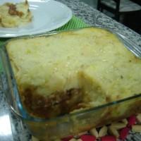 Torta Salgada de Maizena e Madalena feitos pela Leize