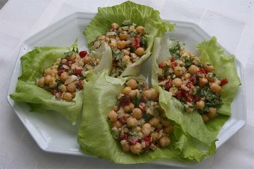salada grão de bico sem gluten lactose