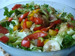 salada rúcula agrião alface manga palmito tomate sem gluten lactose