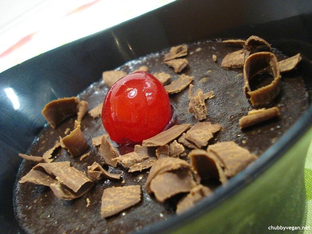Pudim mousse de chocolate sem glúten sem lactose