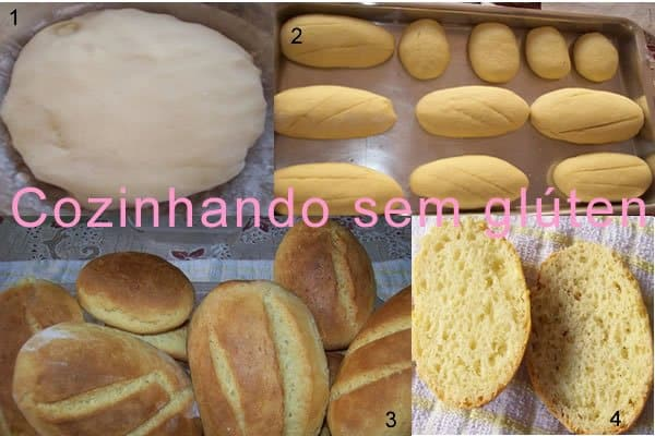 pão de leite sem glúten sem leite
