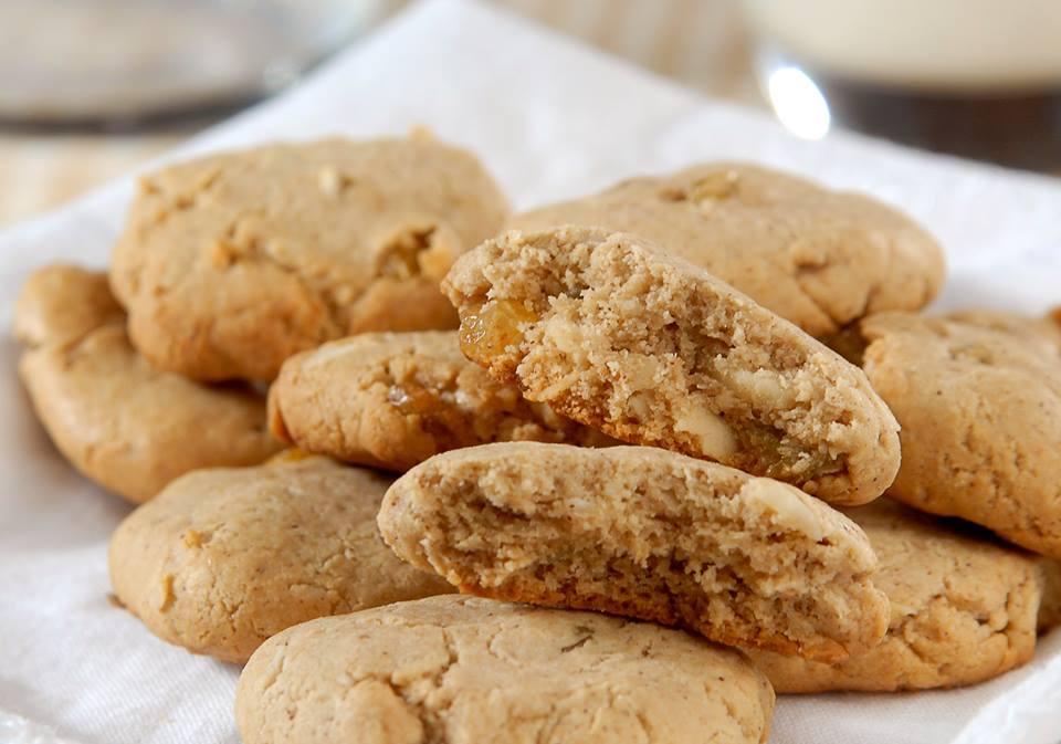 Minicookie de bana sem glúten e sem lactose