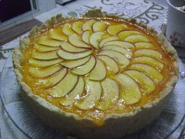 Torta de Maçã Sem Glúten Sem Lactose