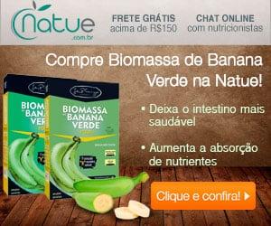 Biomassa de Banana Verde é na Natue!