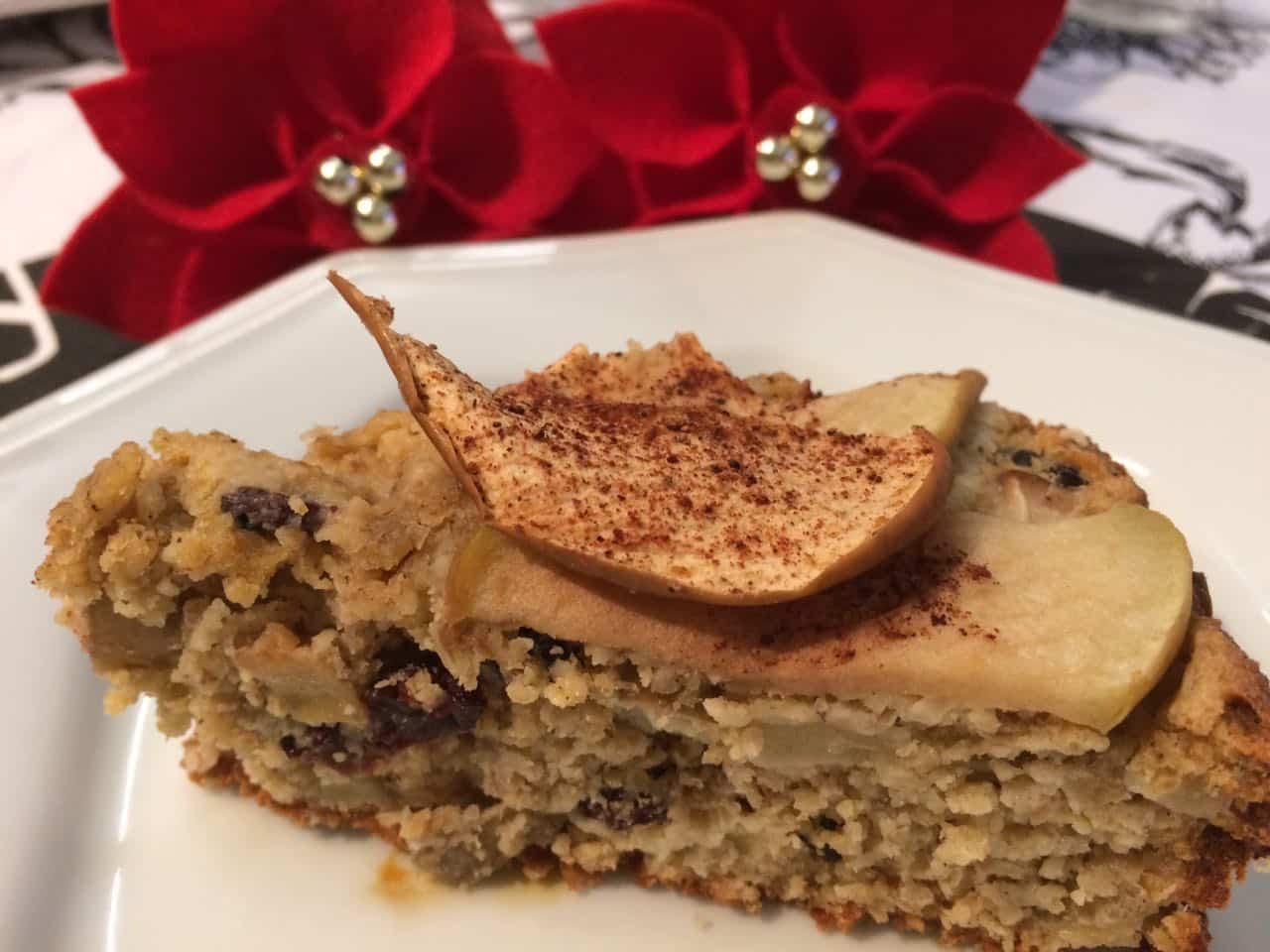 bolo natalino sem farinha e sem açúcar