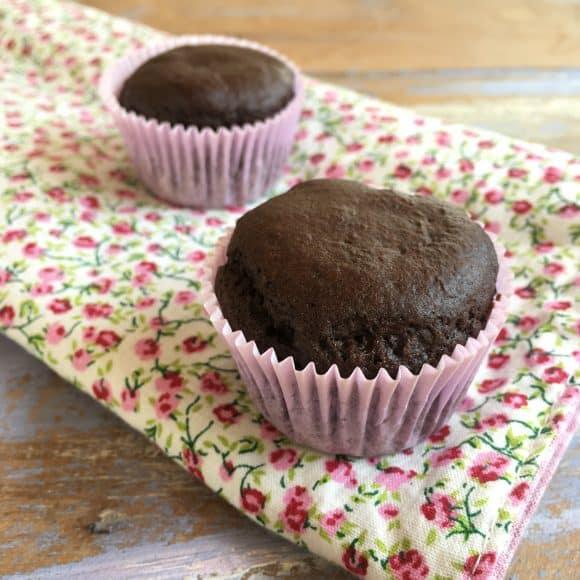 Muffin Proteico de Cacau com Coco Sem Glúten Sem Lactose