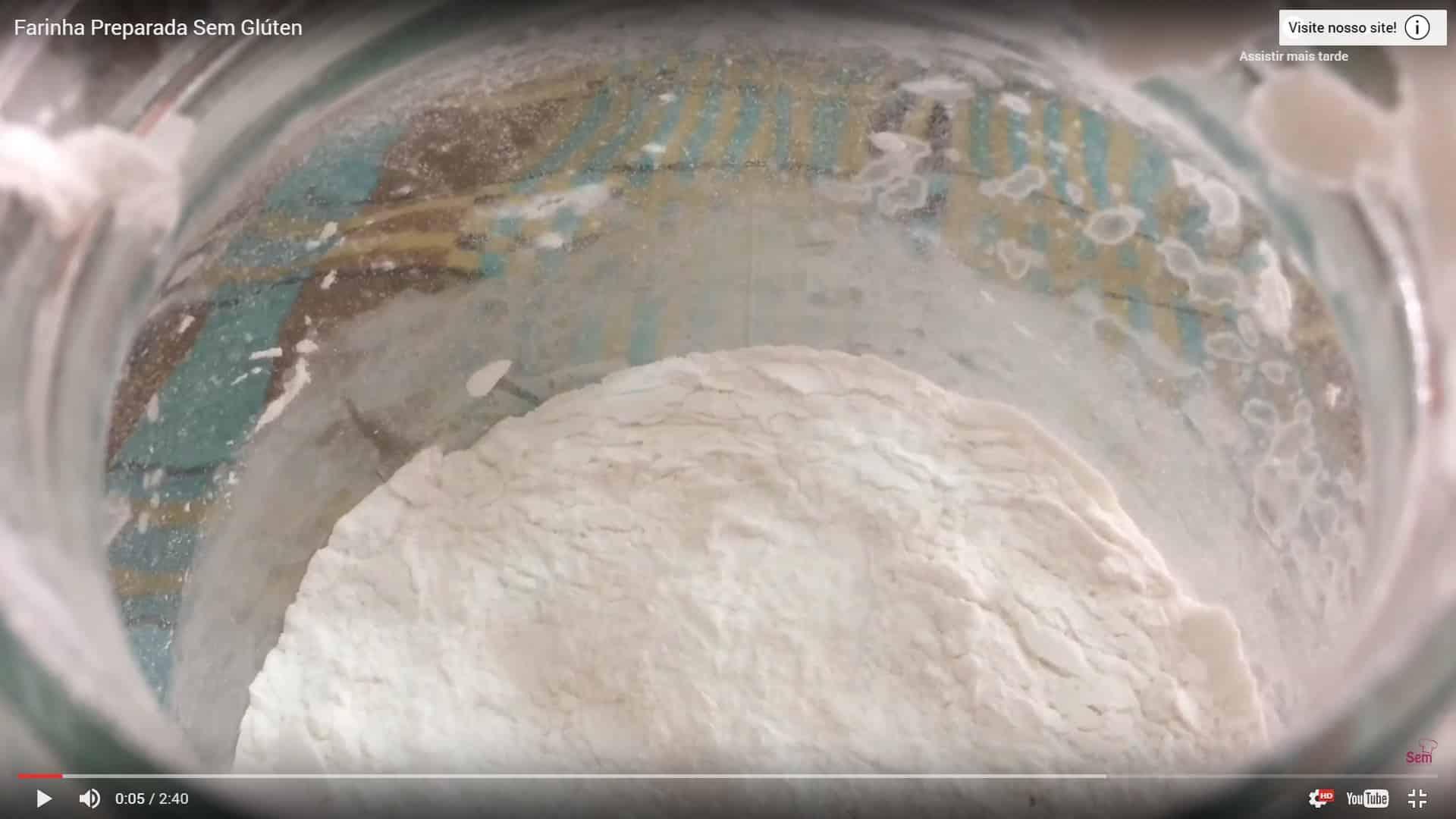 Farinha preparada sem gluten