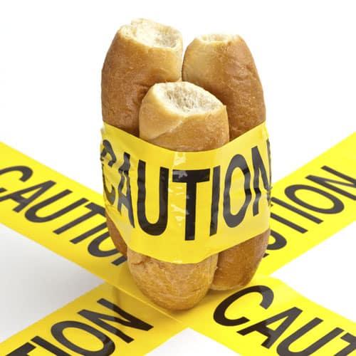 contaminação cruzada - sem glúten sem lactose
